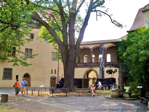 luthers house, museum entrance, wittenberg