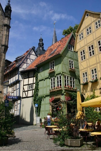 Breite Strasse in Quedlinburg, Harz Mountains
