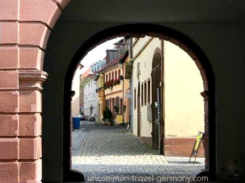Archway with street view, Hammelburg, Germany