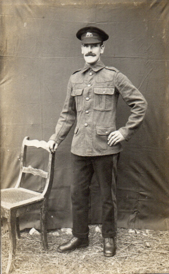 English POW Alfred Roberts in Lager Hammelburg, World War I