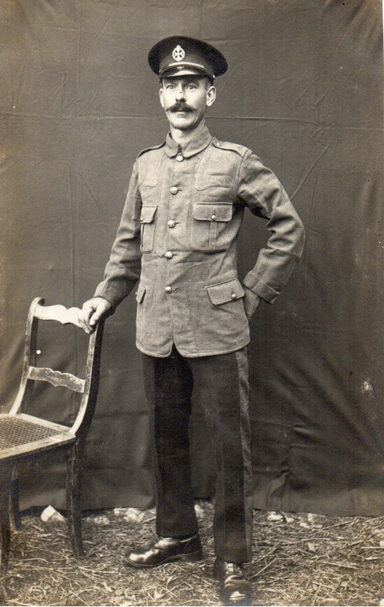 English POW in Lager Hammelburg World War I, Rifleman A Stroud
