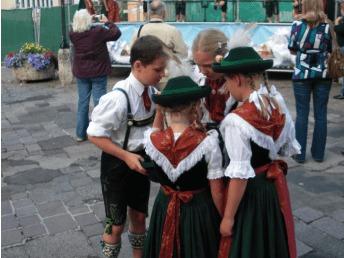 Children in Bavarian tracht, Berchtesgaden