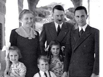 Hitler with Goebbels family, Eagle's Nest