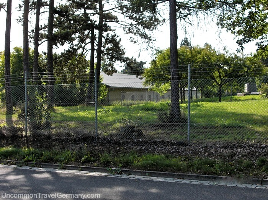 Building behind fence at Lager Hammelburg, former Stalag 13