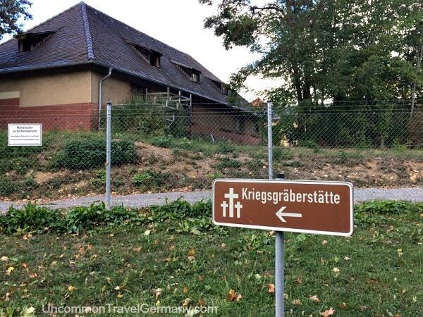 Sign for POW graveyard at Lager Hammelburg