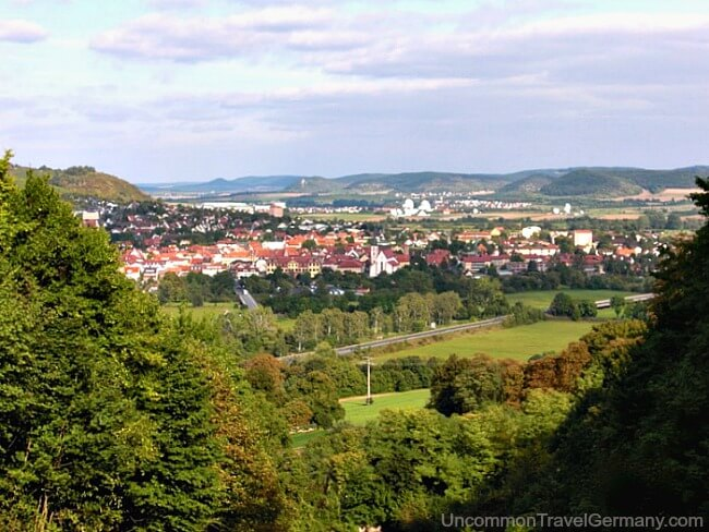 View of Hammelburg Germany from distance