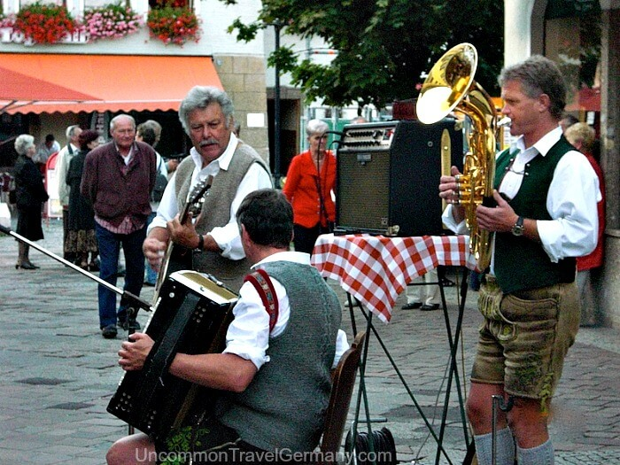 Brass band plays in Berchtesgaden Germany