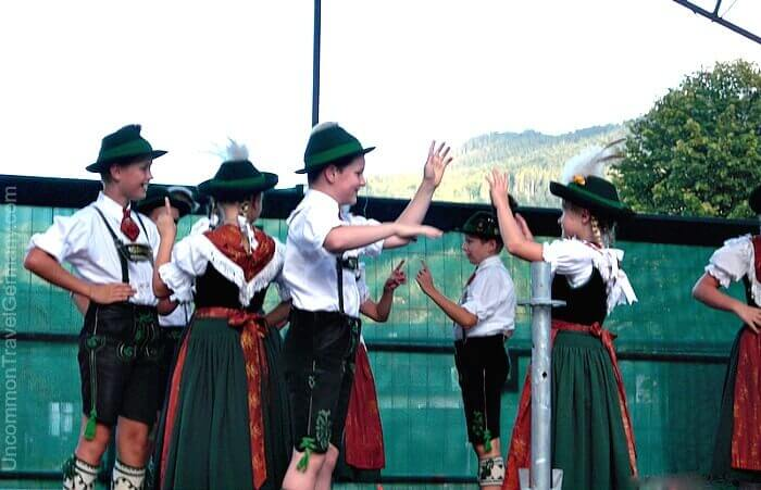 Children folk-dancing in Bavarian Tracht, Berchtesgaden