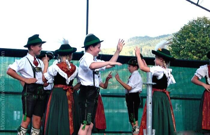 Children folk-dancing in Bavarian Tracht, Berchtesgaden