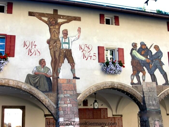 War remembrance mural in Berchtesgaden Germany