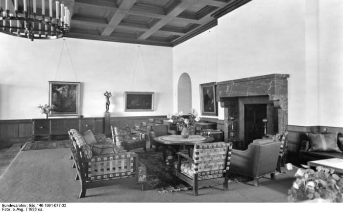 Hitler's great room at the Berghof, Obersalzberg, 1936