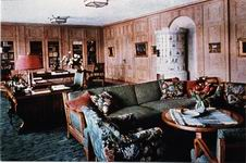 Hitler's office at the Berghof, color