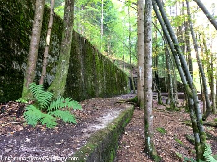 Retaining wall of east wing of Hitler's Berghof ruins