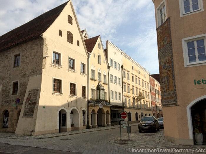 Linzer Strasse houses in Braunau am Inn Austria