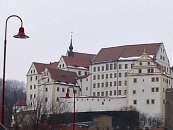 Colditz Castle in winter