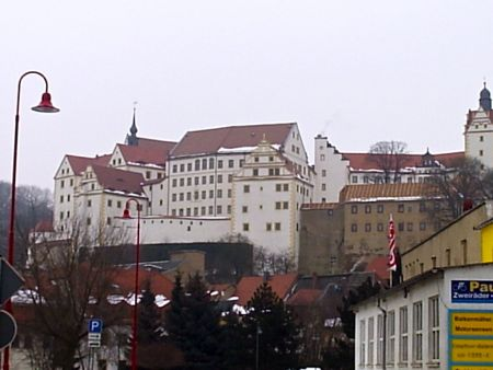 View of Colditz Castle in winter