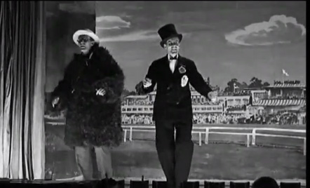 Dance scene from Colditz musical show in film Colditz Story