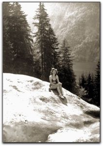 Eva Braun sunbathing at Lake Konigssee, Germany