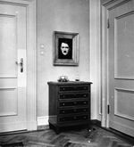 Hitler's portrait in Eva Braun's room at the Berghof