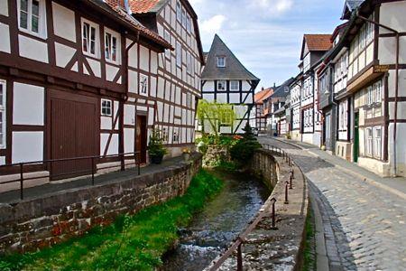 goslar fachwerk houses, harz mountains
