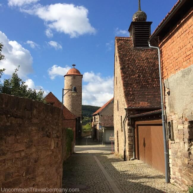 Hammelburg medieval wall and tower