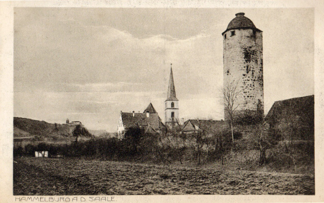 Hammelburg, town and tower, 1917