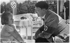 Hitler on the Berghof terrace with Goebbels' daughter
