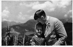 Hitler hugging Bernile at the Berghof