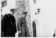 Hitler and Mussolini walking down the Berghof steps