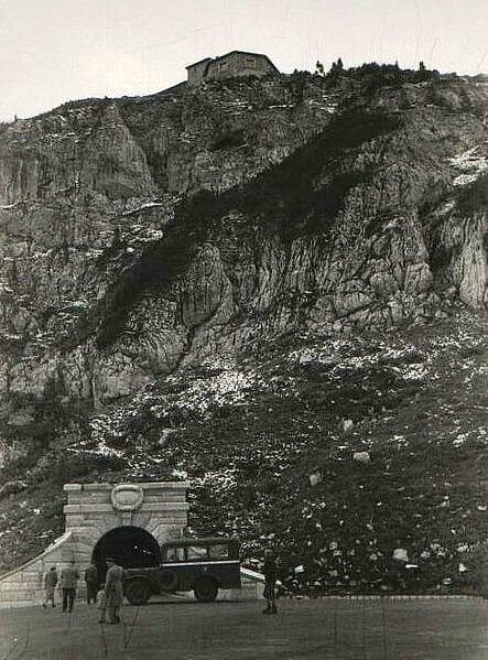Historical image of Hitler's Eagle's Nest in 1945