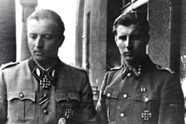 Hermann Fegelein and his brother, Waldemar