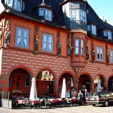 Front of Kaiserworth Hotel,, Goslar, Harz Mountains, Germany