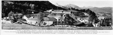 View of Obersalzberg buildings 1941