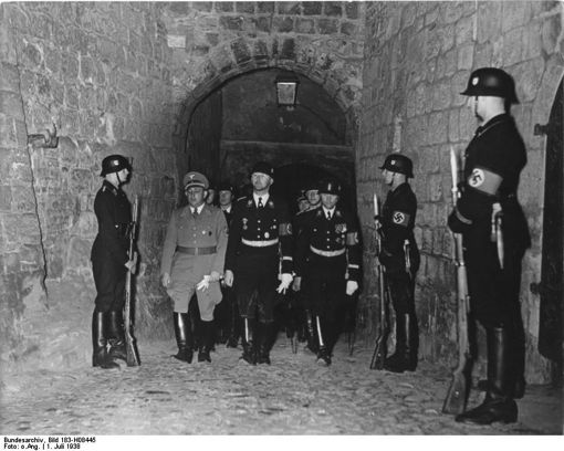 Heinrich Himmler at SS ceremony, Burgberg, in Quedlinburg, Harz