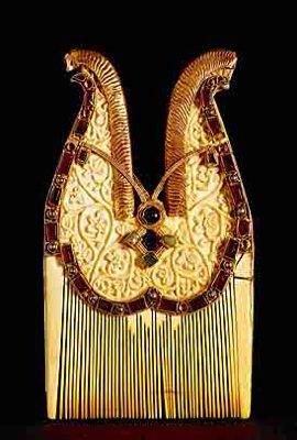 Jeweled Comb, 7th Century, Quedlinburg treasure