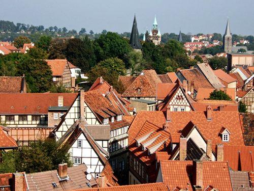 roofs of quedlinburg, harz