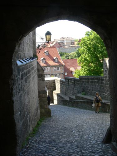 Quedlinburg Castle Gateway, town view