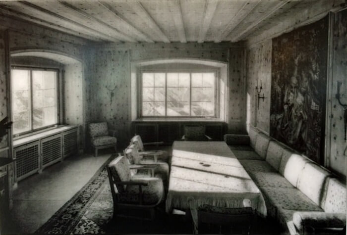 Eva Brauns room at the Eagle's Nest, historical image