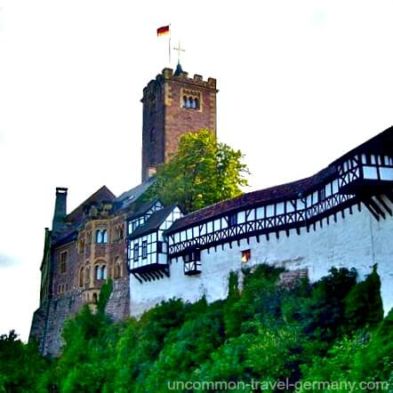 Side view of Wartburg Castle