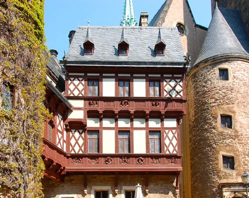 Wernigerode Castle courtyard, Harz, Germany