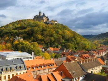 Wernigerode castle and town