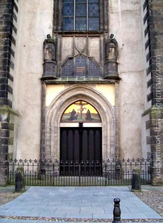 Doors of Castle Church, Wittenberg, Germany