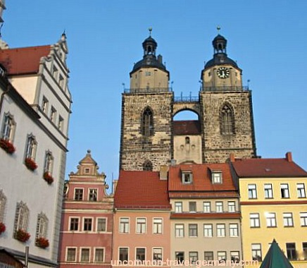 Main Square, Town Church Towers, Wittenberg Germany