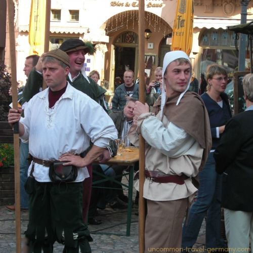 Wittenberg Germany Medieval Faire, men in costume