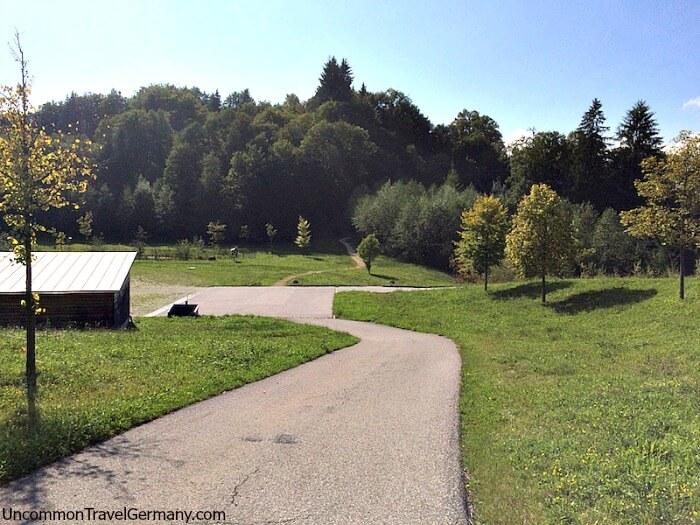 Back path to Hitler's Berhof ruins