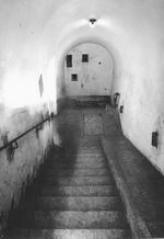 Stairs leading to Hitler's bunker under the Berghof, Obersalzberg