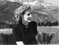 Eva Braun on Obersalzberg