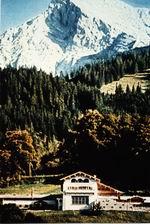 HItler's Berghof, Hoher Goll behind it