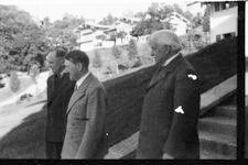 Hitler walking down Berghof steps with Lloyd George