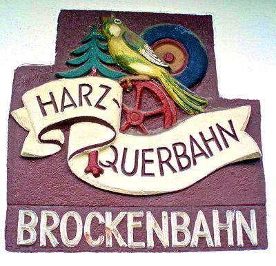Brockenbahn sign, Harz